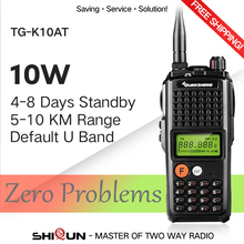 10W QuanSheng TG-K10AT Walkie Talkie 10km TG K10AT radio comunicador 10 km UHF400-470MHz Optional VHF Band Two-way Radio 4000mAh