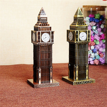 Three-color London Big Ben Statue Metal Travel Souvenir for Friends World Famous Model Ornament Craft Furnishing for Home Office(China)