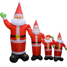 4 size Inflatable Santa Claus Waving Hand Christmas Inflatable Santa Claus Cute Xmas Decoration Outdoor Inflatable Statues