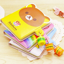 Cute Cartoon Mini Password Lock Notebook Diary Notepad Book Student Stationery Gift Packaging wholesale