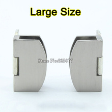 Large Size Glass Door Hinges Zinc Alloy Glass Hinge Brushed Hinge Apply Glass Thickness 8-10mm Hardware Wholesale KF803