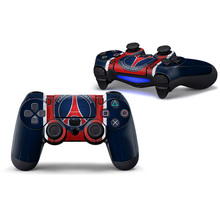 2pcs Paris Saint-Germain Football Customs Vinyl Controller Upper Protective Stickers Decal Skins for PS4 Wireless Controller(China)