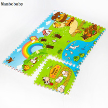 Mambobaby Baby Crawling Play Creeping Mat Climb Pad Puzzle Split Joint EPE Happy Farm Underwater World Playmat Kids Toys Carpet(China)