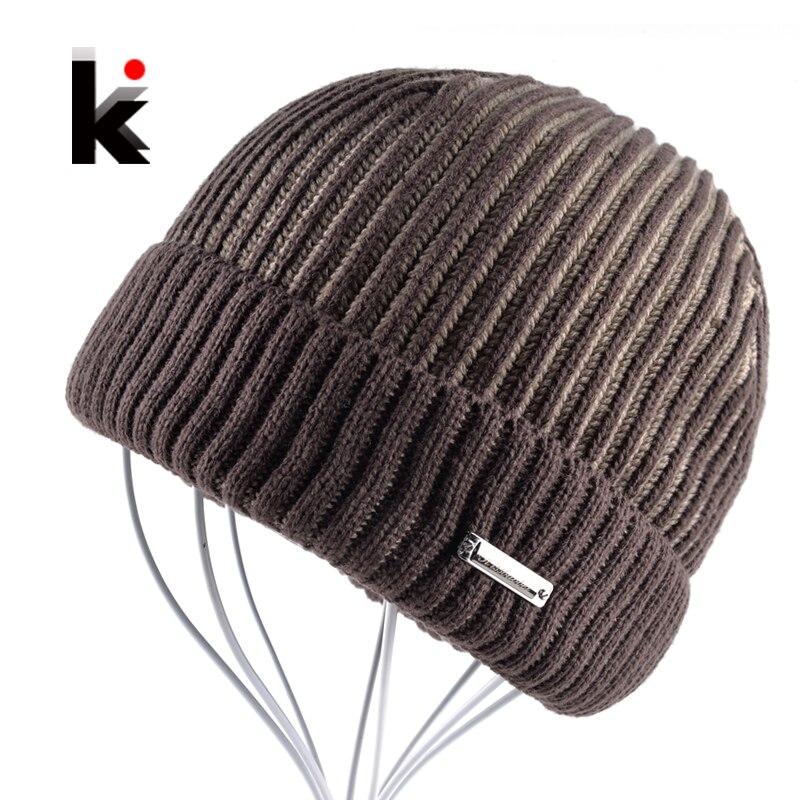 2017 Winter Mens Beanie Hat Bonnet Knitted Hat Plus Velvet Cap Skullies Thicker Touca Fringe Beanies For Men Keep Warm CapsÎäåæäà è àêñåññóàðû<br><br><br>Aliexpress