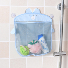 2017 Fashion Baby Bath Toy Mesh Storage Bag Bathtub Doll Basket Organizer Suction Bathroom Stuff Net(China)