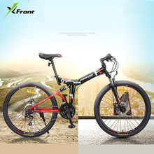 New Brand 26 inch carbon steel 24 speed quality mountain bike outdoor sports downhill disc brake bicicleta MTB bicycle(China)