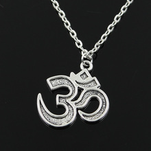 new fashion yoga om Pendants round cross chain short long Mens Womens silver necklace Jewelry Gift
