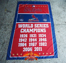 St. Louis Cardinals Flag 11 Time World Series Champions Flag 3ft x 5ft Polyester Banner Flying 150* 90cm Custom flag sport