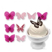 4PCS Plastic Butterfly Cake Biscuit Fondant Decorating Cookie Plunger Cutter DIY Christmas Baking Mold Decorating