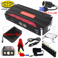 High Capacity Car Jump Starter Portable 12V Starting Device 600A Car Charger for Car Battery Booster Buster 4USB Power Bank LED