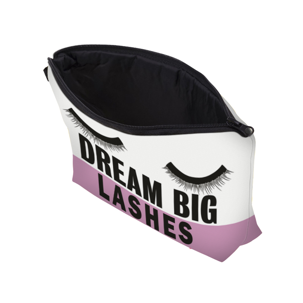"""I Like My Eyelashes"" Printed Makeup Bag Organizer 11"