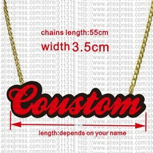 Customized Personal Acrylic Name Necklace(China)