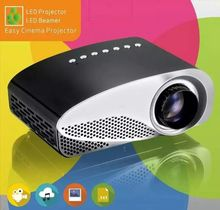 Cheap DHL Free 120 Lumens Portable Mini Projector LED Digital Projector 480x320 Resolution Dual HDMI Port, TV and VGA Port