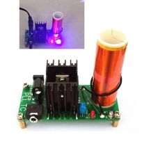 Diy Kits 15W Mini Music Tesla Coil Plasma Speaker Tesla Arc Generator Wireless Transmission DC 15-24v(China)