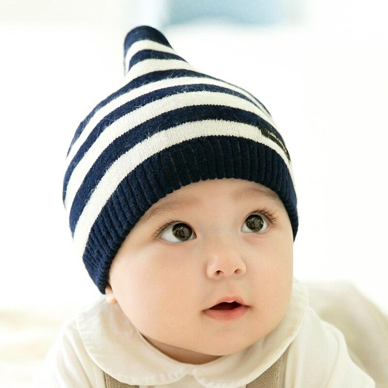 CieiK Newborn Photography Props Soft Baby Hat Warm Children Winter Cap Boys Girls beanie Infant Striped Muts Baby Accessories (1)