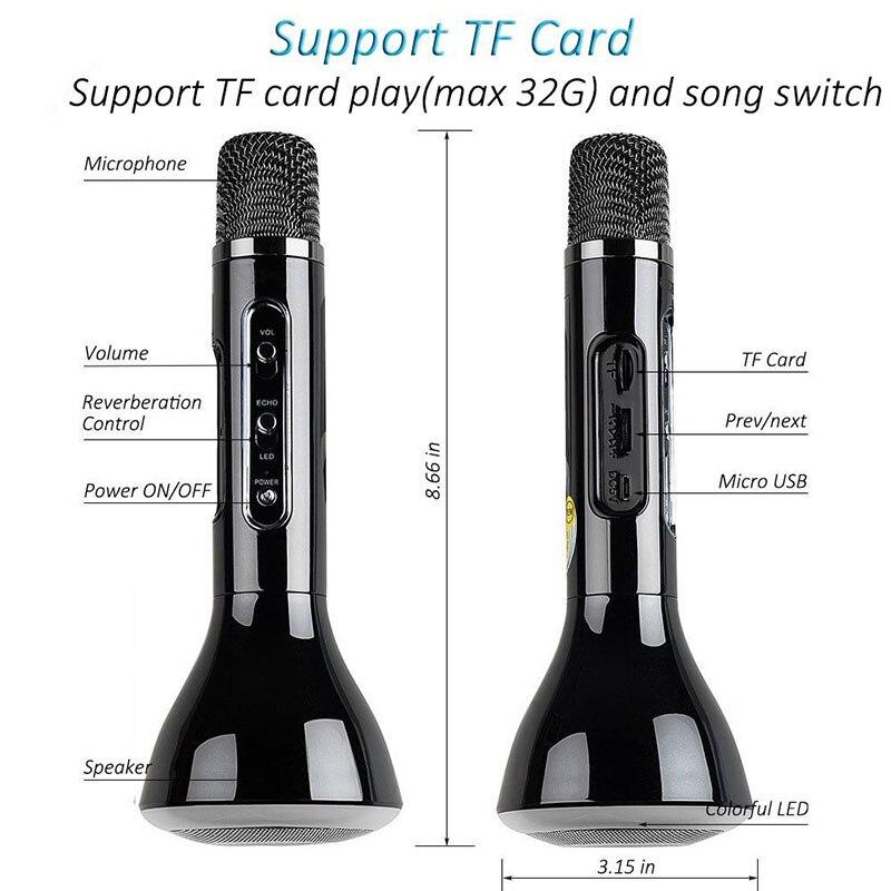 Wireless Microphone Karaoke BT Handheld KTV Mic Microphone Singing Record Professional Player Speaker for Smartphones PC (6)