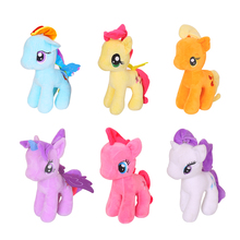 Rainbow little horse plush toys Cartoon Animals Baby Toy for Children Gifts Wedding Gifts toys Hot sales Free Shipping