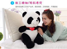 middle plush panda toy new lovely red heart panda doll gift about 40cm 0366(China)