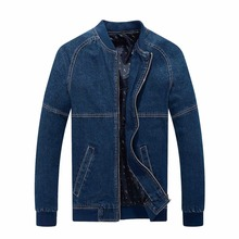 YG6152-2Cheap wholesale 2016 new Denim jacket collar men fall new pure color more coat of cultivate one's morality