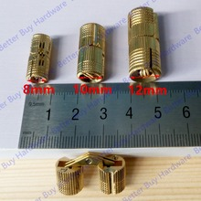 Dia.8mm/10mm/12mm Brass  Hidden Hinges Barrel Hinge Invisible furniture hinge