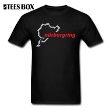 Tops Men T Shirt Nurburgring Race Track Male O Neck Tops Short Sleeve Clothing 100% Cotton T-Shirt New Color Teenage Tees Funny
