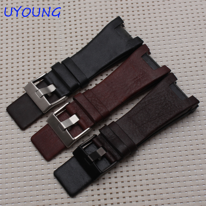 Quality Genuine Leather Watchband 32*17MM Notch For Mens Special interface Replacement Leather Strap For DZ1216 DZ4246<br><br>Aliexpress