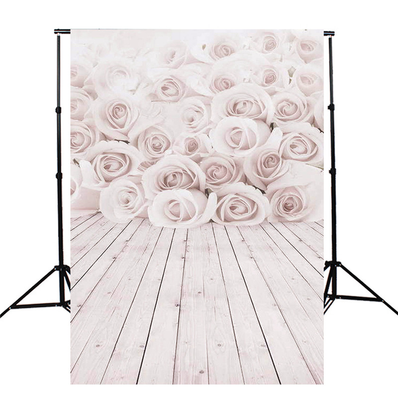 3x5ft Vinyl White Rose wood Wall Floor Photography Background For Studio Photo Props Photographic Backdrop Cloth 1mx 1.5m<br><br>Aliexpress