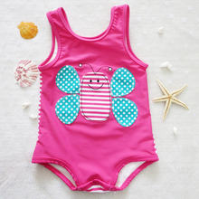 kids swimsuit New 2017 Summer Style Girls Swimsuit Children Swimwear Kids One Piece Swimming Suit Beach Wear SW014XIN-CGR1(China)