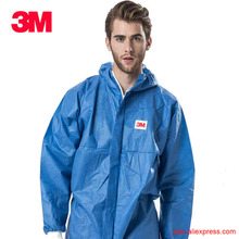 3M 4532 blue protective clothing Radiation resistant particles anti static chemical suit Paint clothes Clean Work dust coveralls(China)
