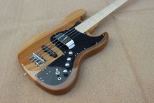 New arrived 4 string  P bass  Electric Guitar, chrome parts,black pickguard, Elm Body.maple neck and fingerboard. free shipping
