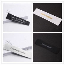 Custom garment label Custom logo shirt jacket shoe labels sewing on laundry labels for clothing FC-L-0024(China)