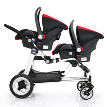 Super Shock Absorbing Twins Baby Stroller Newborn Carry Cot Pram Practical Twin Baby Stroller Double Car Seats Carriage(China)
