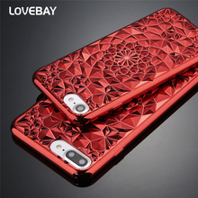 Lovebay Luxury 3D Diamond Phone Case For iPhone 6 6s Plus 7 7 Plus Electroplated Soft TPU Phone Case For iPhone 6 7 P Cover Bags