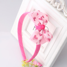 New Girls Lovely Bow Dot Pattern Hair Band Girls Hair Accessories Korean Dots Ribbon Bow Hair Bands For Children &Baby