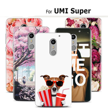 2017 Wobiloo Brand New Fashion Crystal Prints Cartoon Ultra-thin Back Cases DIY Design Phone Skin Cover for UMI Super Case
