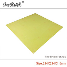Free shipping 214x214x1.5mm ABS Special Fixed Plate FR4 Epoxy Boards Porous pegboard For Reprap Prusa i3 3D Printer MK2 MK3 MKY