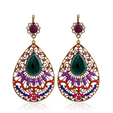Big Water Drop Earrings For Women Fashion Jewelry Geometric Multi Color Acrylic Beaded Statement Bohemian Dangle Earring Vintage