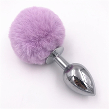 Buy 3 Size Anal Plug Light Purple Rabbit Tail Butt Stopper Bunny Cute Butt Plugs Anus Dilator Anal Sex Toys Women H8-63B