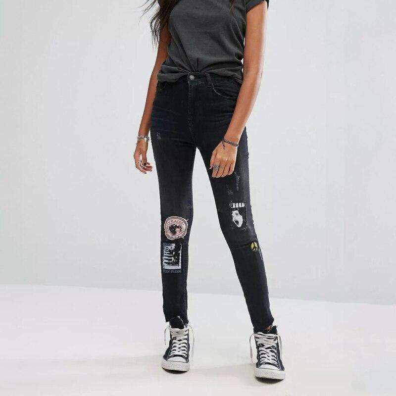 2017 European Women Trouser Jeans Denim Boyfriend Pants Black Pants Femme Women Trouser For Women Skinny Pencil JeansÎäåæäà è àêñåññóàðû<br><br>