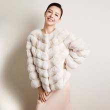 Luxury fur coat women high end top quality winter natural fur jacket natural Chinchilla fur elegant short New Phoenix 71117A(China)