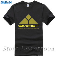 Science Fiction Film Skynet Cyberdyne Systems Terminator Printed T-Shirt Tee Shirts Cool Tops Park Tracksuit For Men Film Fans(China)