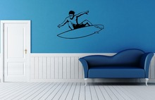 Wall Stickers Vinyl Decal Extreme Water Sports Surfing Board Wall Decor(China)