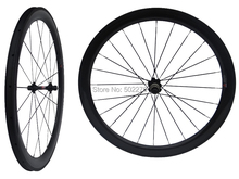 WS-CW015   :  25mm width - Carbon Glossy Cycling Road Bike Clincher Wheelset 50mm 700C Bicycle Wheel Rim Basalt Brake Side