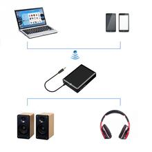 Black Blue tooth receiver Bluetooth V2.1 no drivers required Any 3.5MM interface, RCA interface input high-end audio(China)
