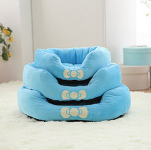 Bowknot Marca Dragon Pet Litter Dog Kennel Dogs Bed Small Teddy Dog House Nest Cat Litter 160625-15
