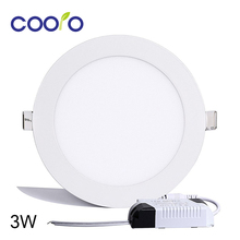 AC110/220V LED Panel Light 3W LED ceiling Light Round Ultra thin LED downlight(China)