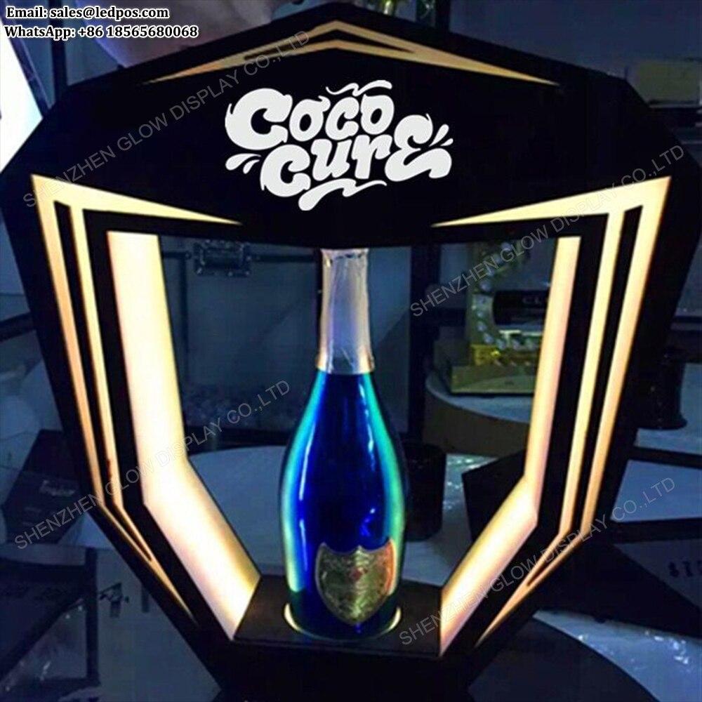 5 PACK BLUE BOTTLE BAR GLORIFIER DISPLAY BOTTLE GLOW LIGHT UP BOTTLE VIP