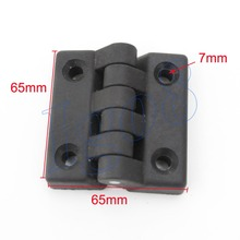 65mm Plastic Black Butt Hinges Cabinet Door Bearing Hinge 4pcs