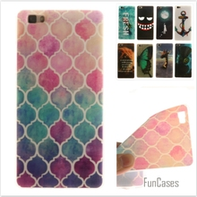 Luxury High quality Soft TPU Butterfly flower Pattern phone Cases for Huawei Ascend P8 Lite P8 mini Rubber Silicon cover