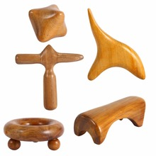 Vietnam Fragrant Wood Body Foot Reflexology Acupuncture Shiatsu Thai Massager Roller Therapy Meridians Scrap Lymphatic Drainage